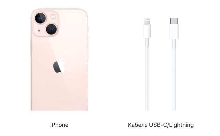 Комплектация iPhone 13 и iPhone 13 mini