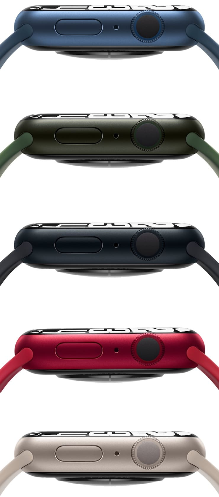 Цвета Apple Watch Series 7