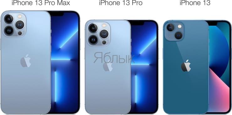 Сравнение iPhone 13, iPhone 13 Pro и iPhone 13 Pro Max