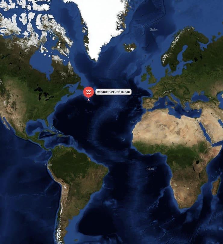 Where the Titanic sank